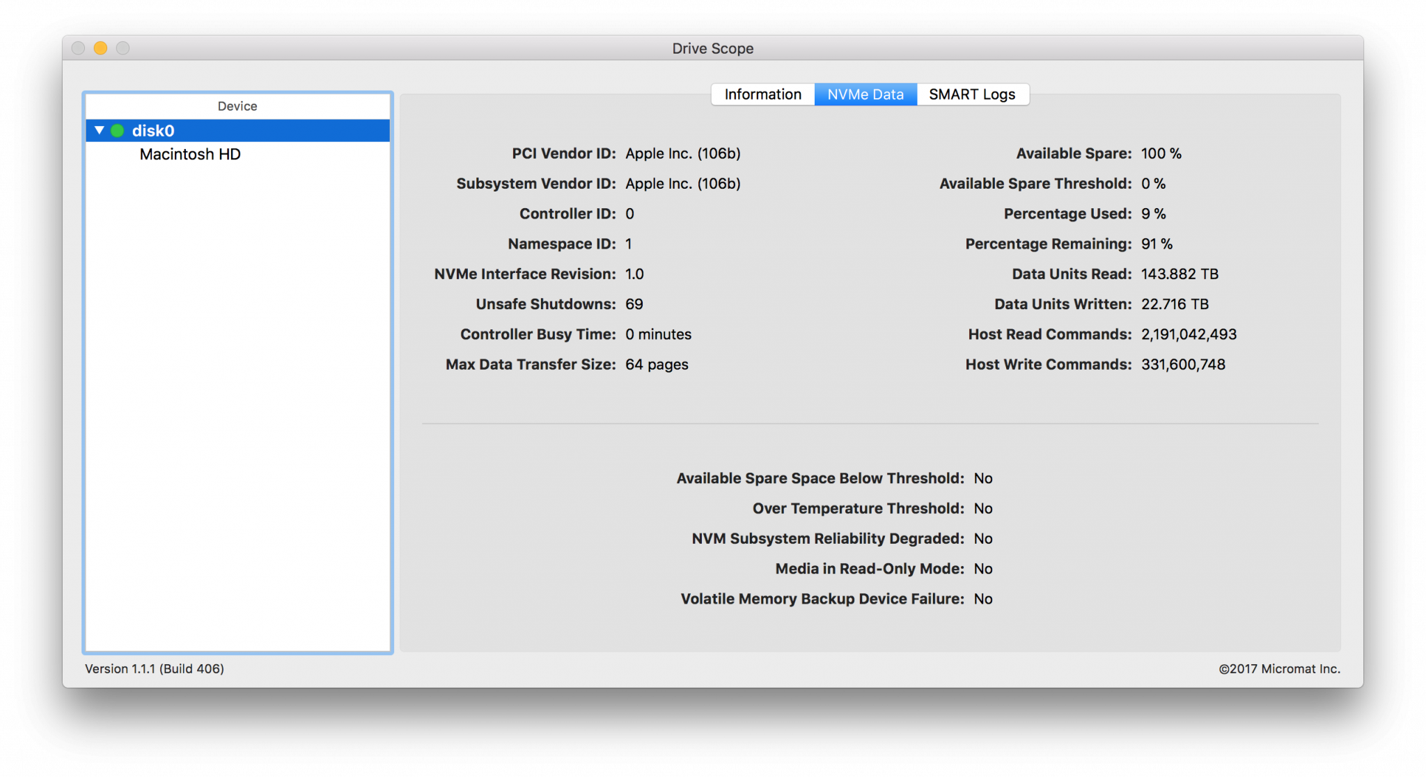 Micromat Drive Scope 1.2.14 Mac 破解版 收集和分析Mac磁盘状态